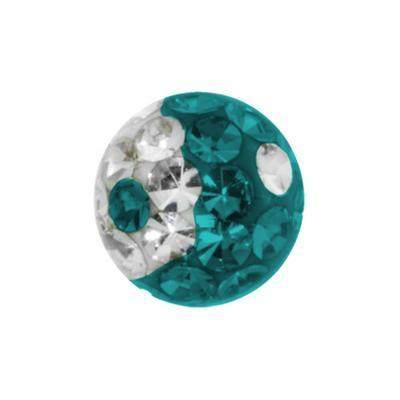 Piercingverschluss Swarovski Kristall Chirurgenstahl 316L Epoxiharz Yin_Yang