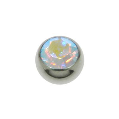 Piercingverschluss Chirurgenstahl 316L Hochwertiger Kristall