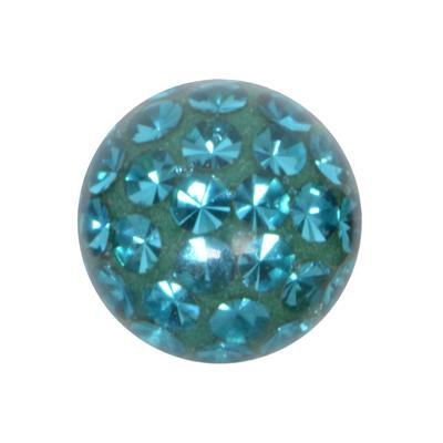 Piercingverschluss Kristall Chirurgenstahl 316L Epoxiharz