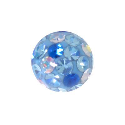 Piercingverschluss Chirurgenstahl 316L Kristall Epoxiharz