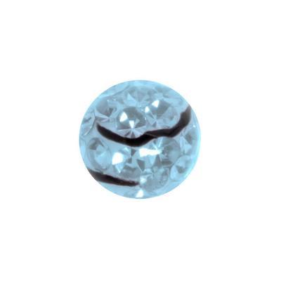 Piercingverschluss Chirurgenstahl 316L Kristall Epoxiharz Welle Streifen Rillen Linien