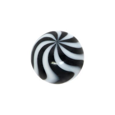 Piercingverschluss Acrylglas Welle Streifen Rillen Linien