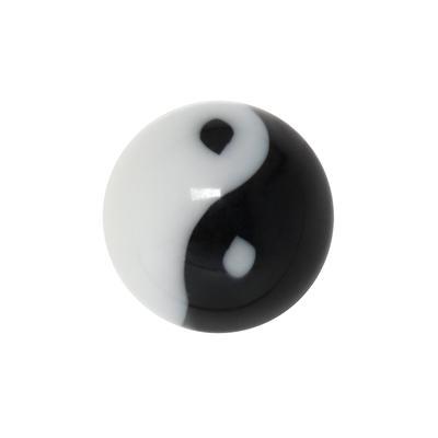 Piercingverschluss Acrylglas Yin_Yang