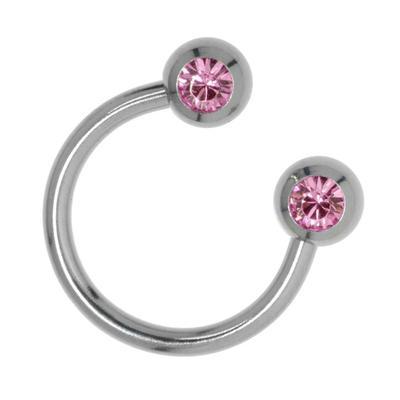 Piercingstab Chirurgenstahl 316L Swarovski Kristall