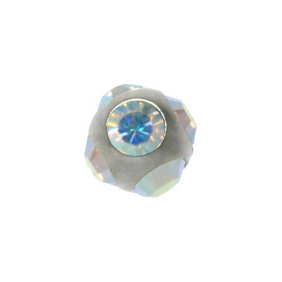1.2mm Piercing-Kugel Kristall Chirurgenstahl 316L