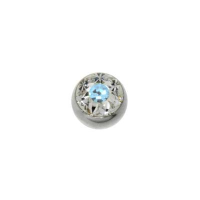 1.2mm Piercing-Kugel Chirurgenstahl 316L Swarovski Kristall Blume