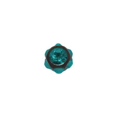 1.2mm Piercing-Kugel Chirurgenstahl 316L Swarovski Kristall PVD Beschichtung (schwarz)