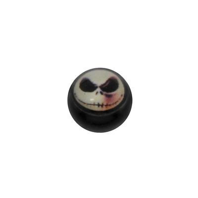 1.2mm Piercing-Kugel Acrylglas Glas Totenkopf Schädel Knochen