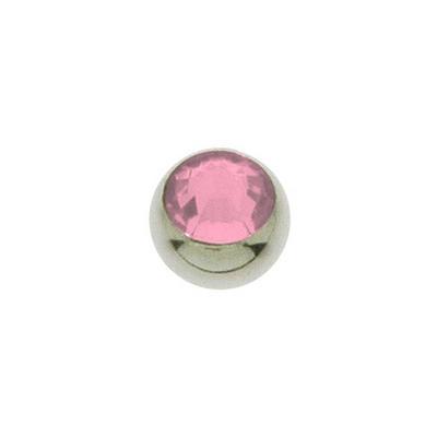 1.2mm Piercing-Kugel Swarovski Kristall Chirurgenstahl 316L