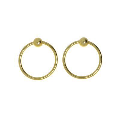 Fingernagelpiercing Silber 925 Gold-Beschichtung (vergoldet)