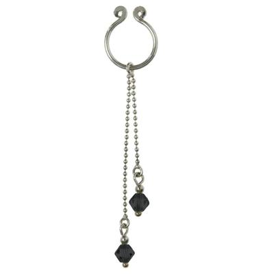 Brustwarzen-Clip Silber 925 Kristall