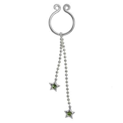 Brustwarzen-Clip Silber 925 Kristall Stern