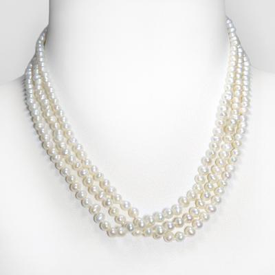 Chaîne de perles Argent 925 Perles d´eau douce