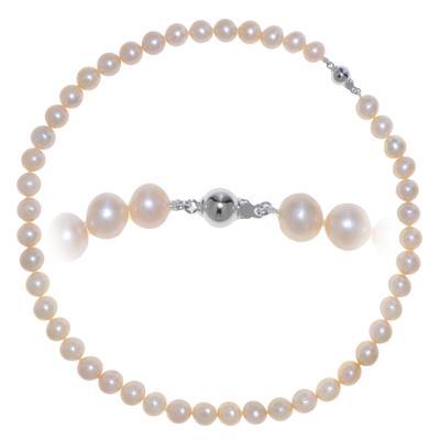 Chaîne de perles Perles d´eau douce Argent 925