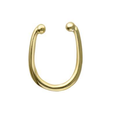 Nasenclip Silber 925 Gold-Beschichtung (vergoldet)