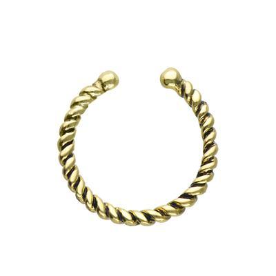 Nasenclip Silber 925 Gold-Beschichtung (vergoldet) Spirale