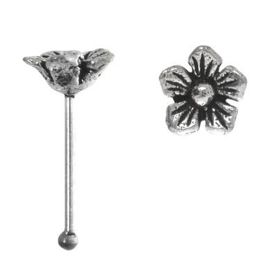 Nasenpiercing Silber 925 Blume