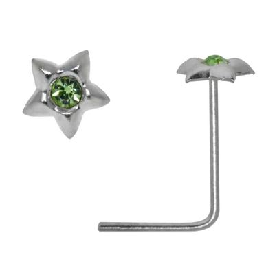 Nasenpiercing Silber 925 Kristall Stern