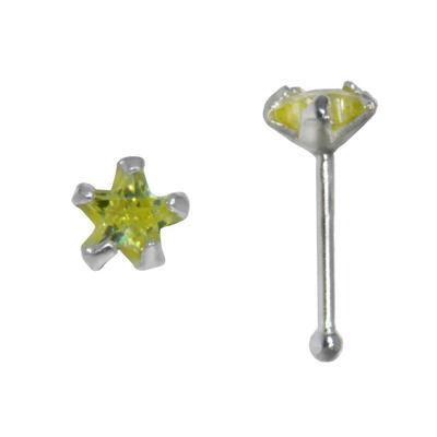 Piercing de nariz Plata 925 Circonita Estrella