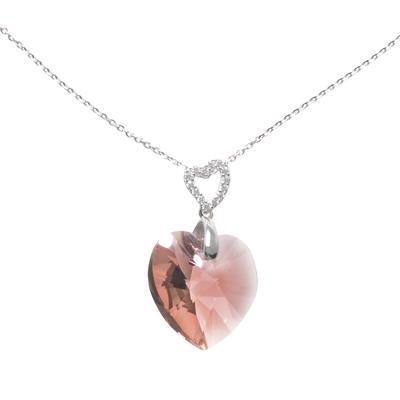 Halsschmuck Silber 925 Swarovski Kristall Herz Liebe