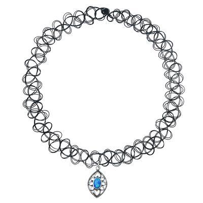 Halsschmuck Kunststoff Silber 925 Opal