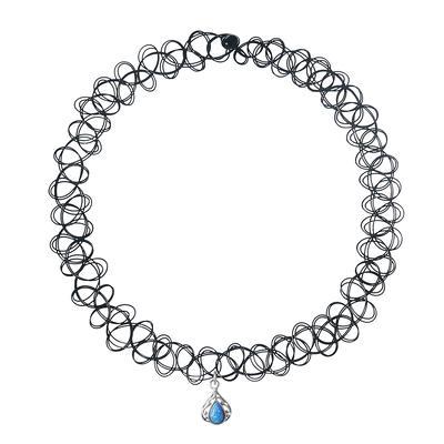 Halsschmuck Kunststoff Silber 925 Opal Tropfen Tropfenform Wassertropfen
