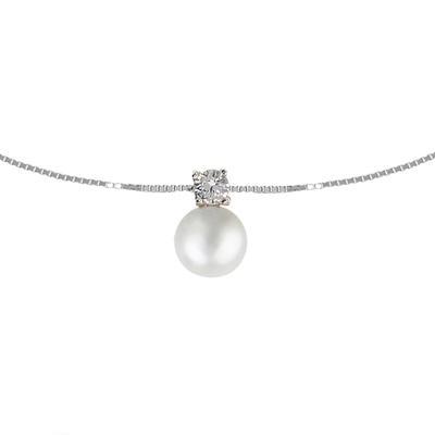 EraOra Halsschmuck Silber 925 Zirkonia Synthetische Perle