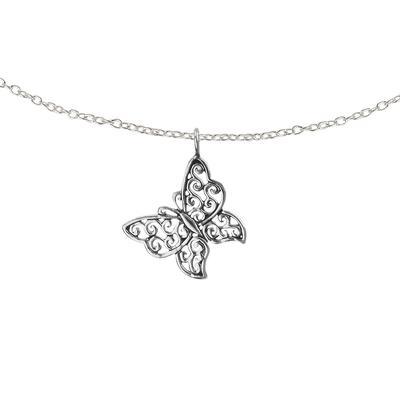 Kinder Halskette Silber 925 Schmetterling Sommervogel