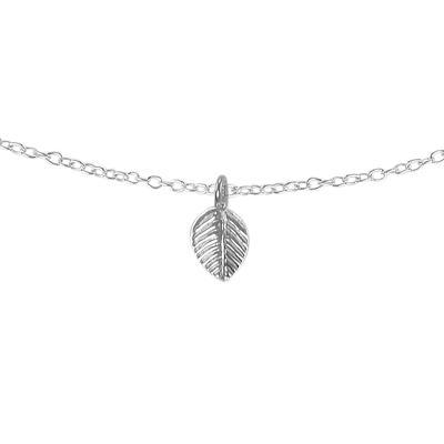 Halsschmuck Silber 925 Blatt Pflanzenmuster Florales_Muster