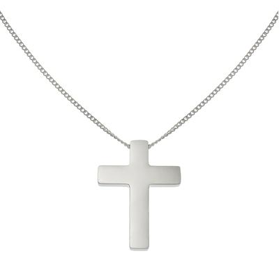 Halsschmuck Edelstahl Kreuz