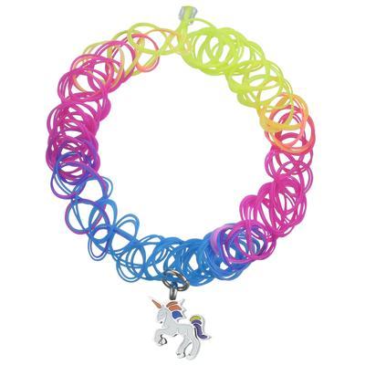 Kinder Halskette PVC Edelstahl Email Einhorn