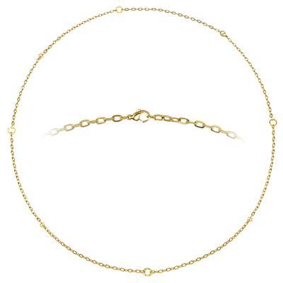 Catena Acciaio inox Cristallo Rivestimento PVD (colore oro)
