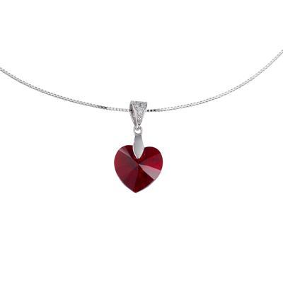 Halsschmuck Silber 925 Swarovski Kristall Kristall Herz Liebe