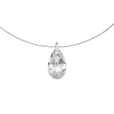 Halsschmuck Silber 925 Hochwertiger Kristall Tropfen Tropfenform Wassertropfen