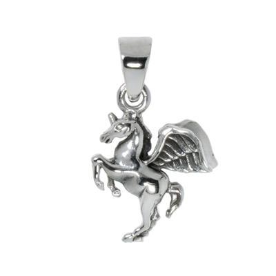 Silber-Anhänger Silber 925 Pferd Hengst Fohlen Flügel Einhorn