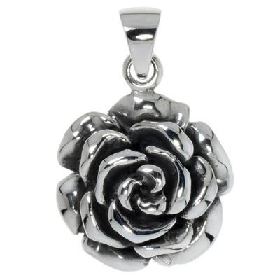 Silber-Anhänger Silber 925 Blume Rose