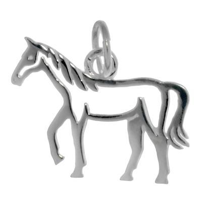 Kinder Halskette Silber 925 Pferd Hengst Fohlen
