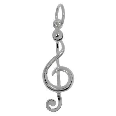 Kinder Halskette Silber 925 Musik Notenschlüssel Gitarre