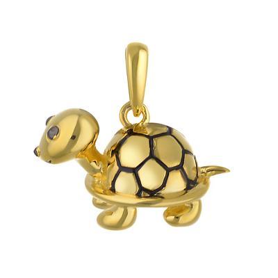 Kinder Halskette Silber 925 Gold-Beschichtung (vergoldet) Schildkröte