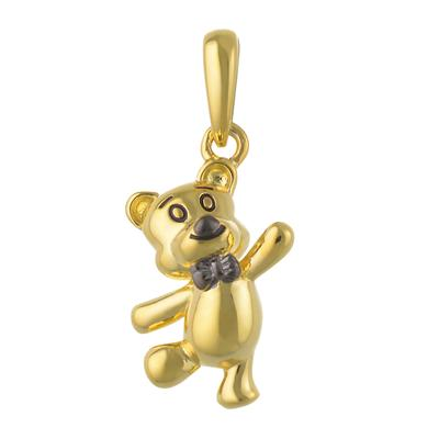 Kinder Halskette Silber 925 Gold-Beschichtung (vergoldet) Bär Bärchen Teddy