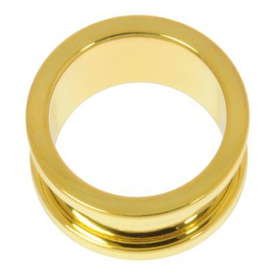 Tunnel Chirurgenstahl 316L Gold-Beschichtung (vergoldet)