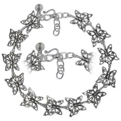 Bracelet fin Argent 925 Papillon