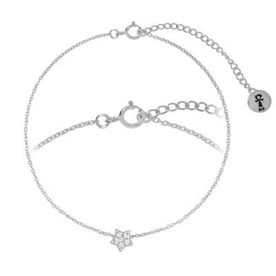 Silber-Armkettchen Silber 925 Kristall Stern