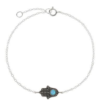 Silber-Armkettchen Silber 925 Opal Hand