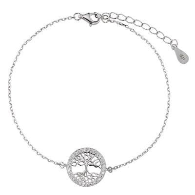 Silber-Armkettchen Silber 925 Zirkonia Baum Baum_des_Lebens