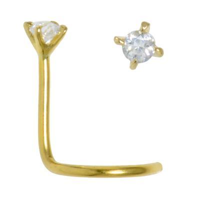 Nasenpiercing Gold 18K Kristall