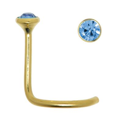 Piercing nez Or 18 ct Cristal