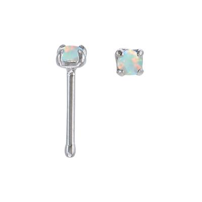 Nasenpiercing Chirurgenstahl 316L Synthetischer Opal