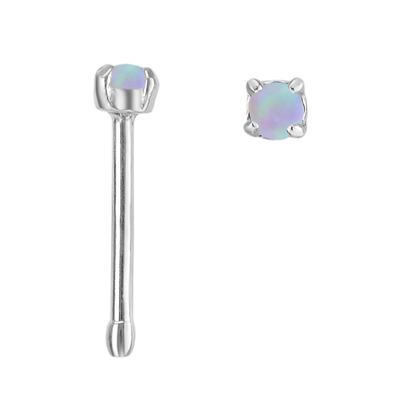 Piercing per naso Metallo chirurgico 316L Synthetic opal