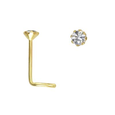 Nasenpiercing Gold 14K Zirkonia